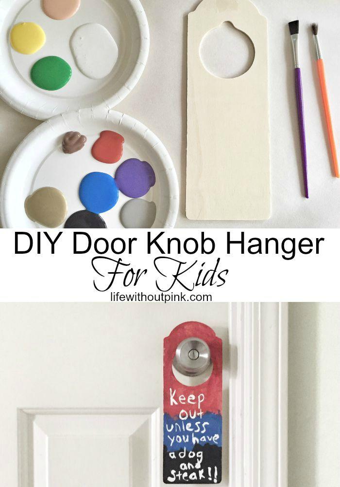 DIY Door Knob Hanger for Kids | Creative & Crafty. | Pinterest | Diy ...