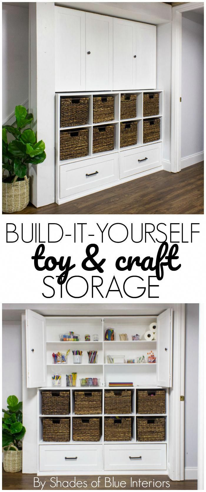 Toy Storage Unit - Shades of Blue Interiors