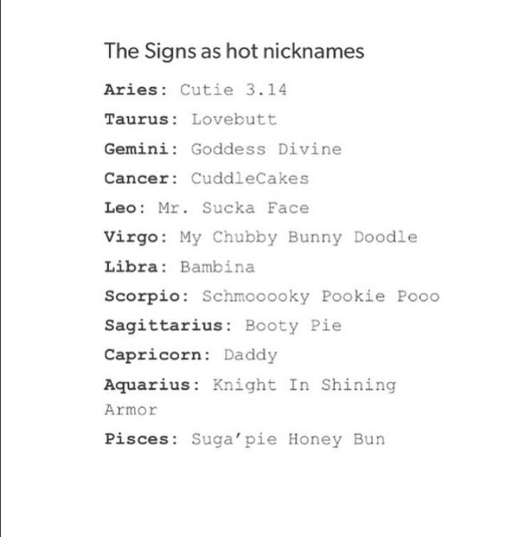 What S Your Nickname Zodiac Signs Funny Zodiac Facts Pisces