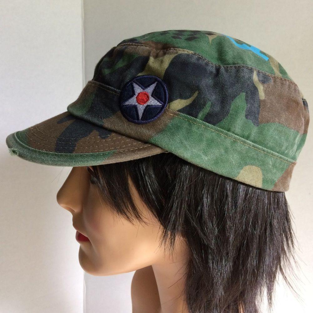 hot sale online 83619 10b4e ... closeout quiksilver distressed camouflage lightning bolts l xl cadet cap  hat quiksilver hat cap fashion camo