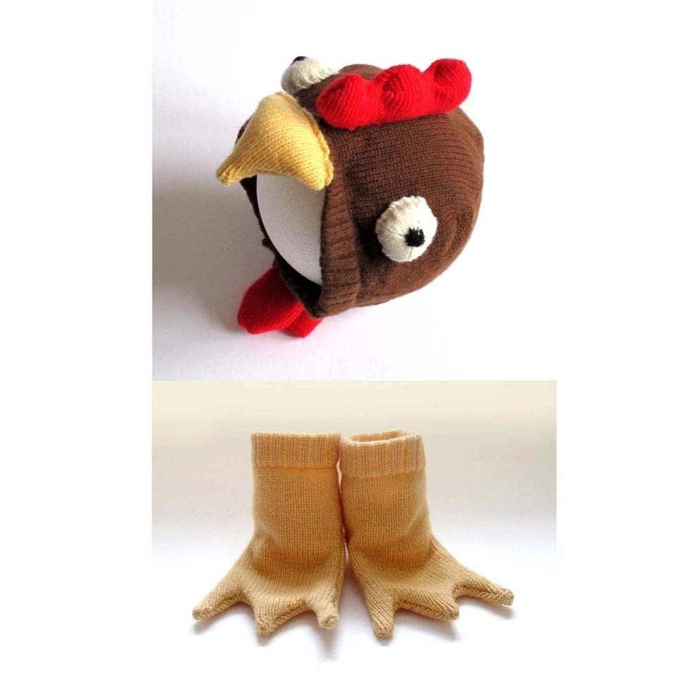 Chicken Hat and Booties Set