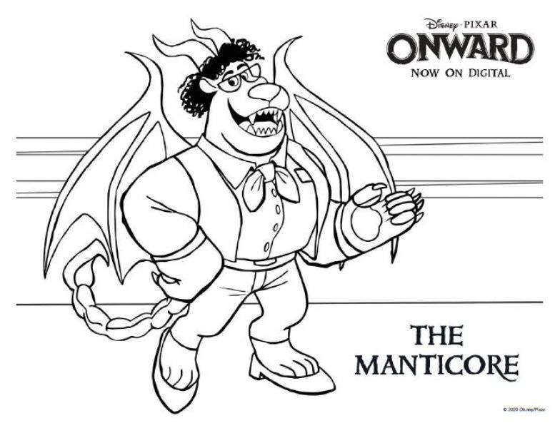 Onward Coloring Pages And Printable Activities This Fairy Tale Life Family Coloring Pages Coloring Pages Disney Coloring Pages