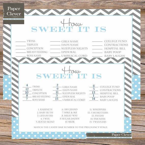 Candy bar stages Baby Shower Game  INSTANT DOWNLOAD by paperclever, $6.00