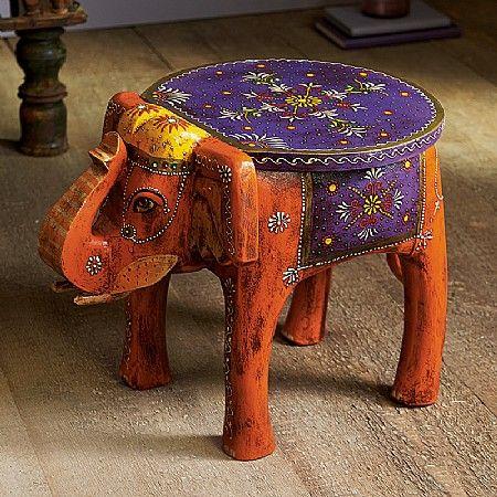 Odisha Elephant Table 163 70 Hand Painted Side Table Or Small