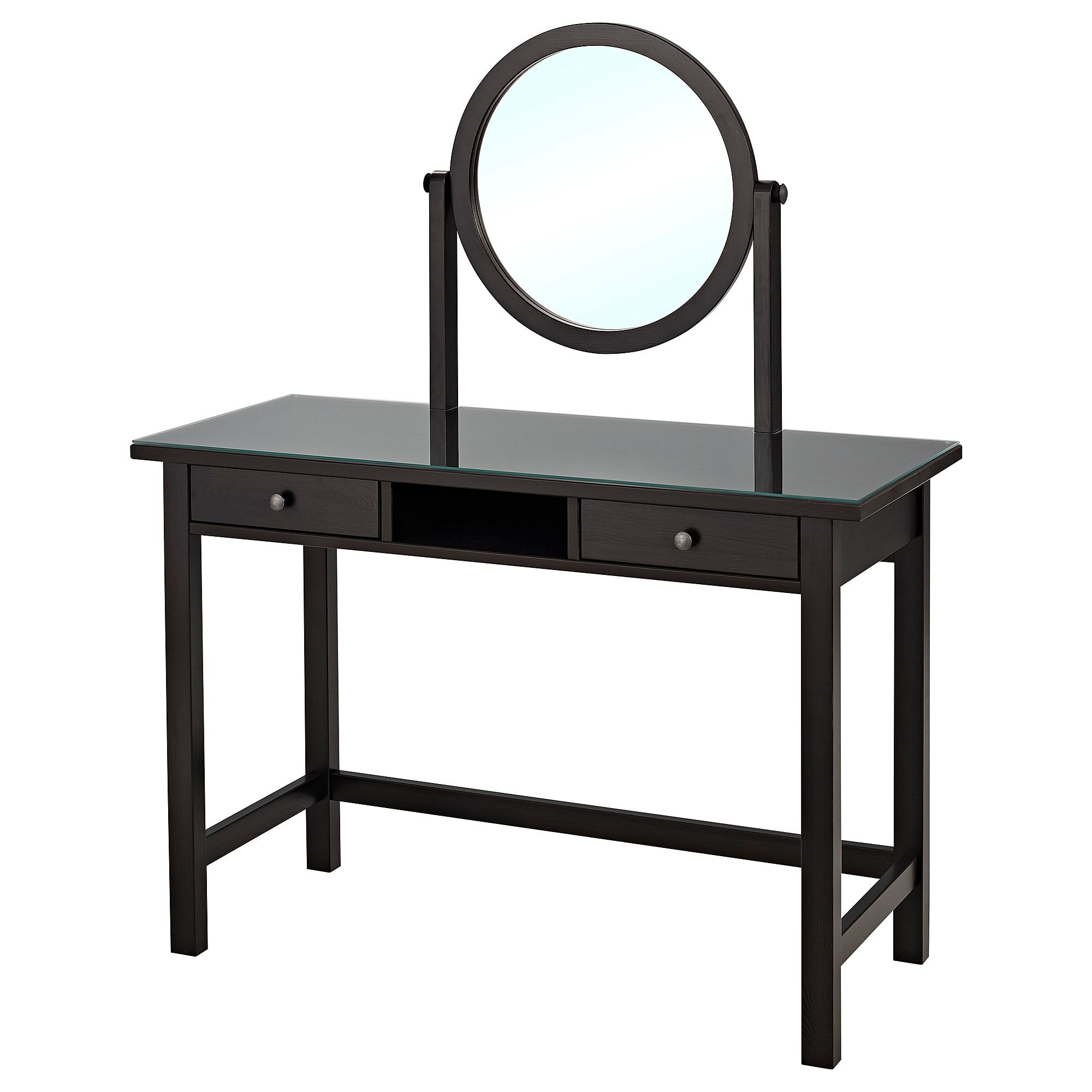 Hemnes Dressing Table With Mirror Black Brown 43 1 4x17 3 4 Dressing Table Mirror Malm Dressing Table Dressing Table