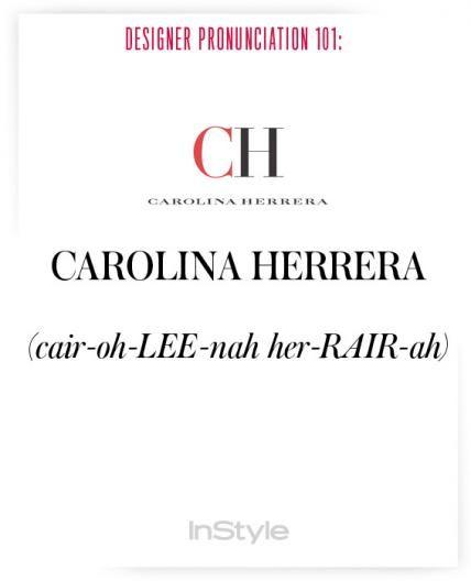 How To Pronounce Fashion Designer Names Pronunciation Guide Fashion Designers Names How To Pronounce