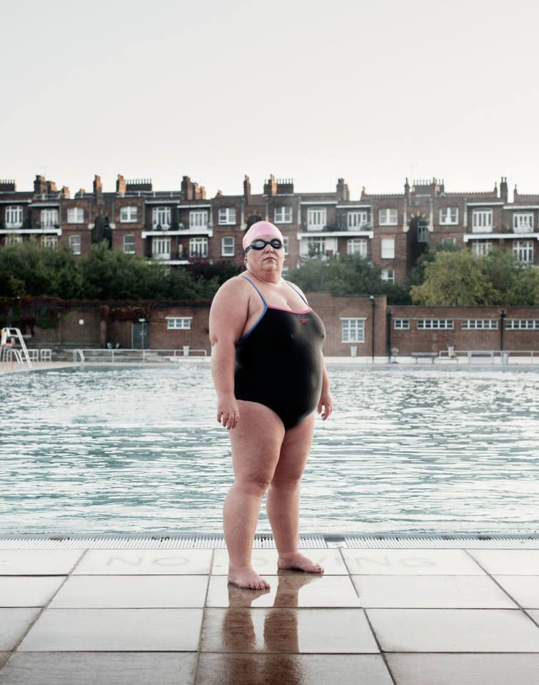 3ffc805d138 Sally Goble, Channel Swimmer, Parliament Hill Lido #1 | Su | Dresses ...