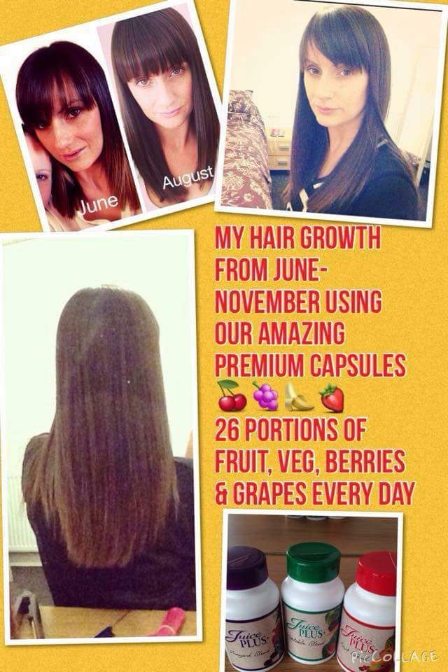 Juice Plus Can Also Help With Hair Growth Too Check Out Christina