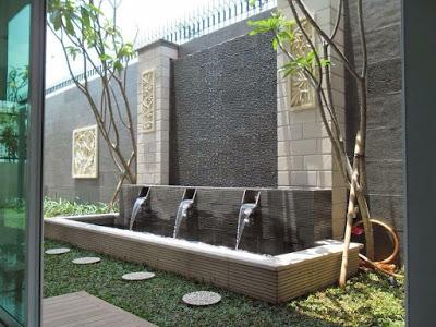 40 contoh desain kolam ikan minimalis depan rumah | kolam