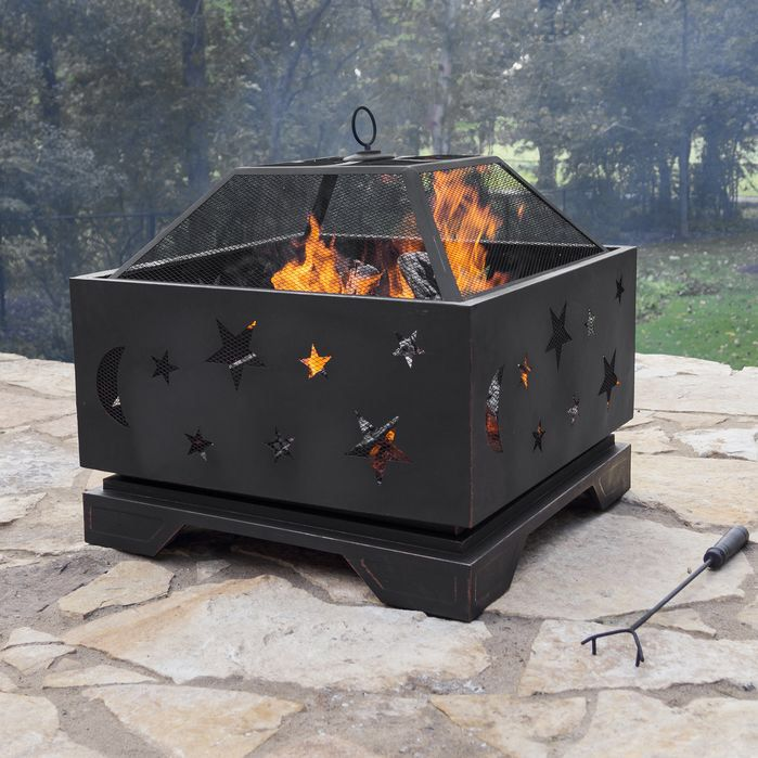 Features Extra Deep Design Provides A Long Lasting Fire Built In Air Vents In Fire Bowl Provide Better Oxyg Fire Pit Wood Burning Fire Pit Fire Pit Patio