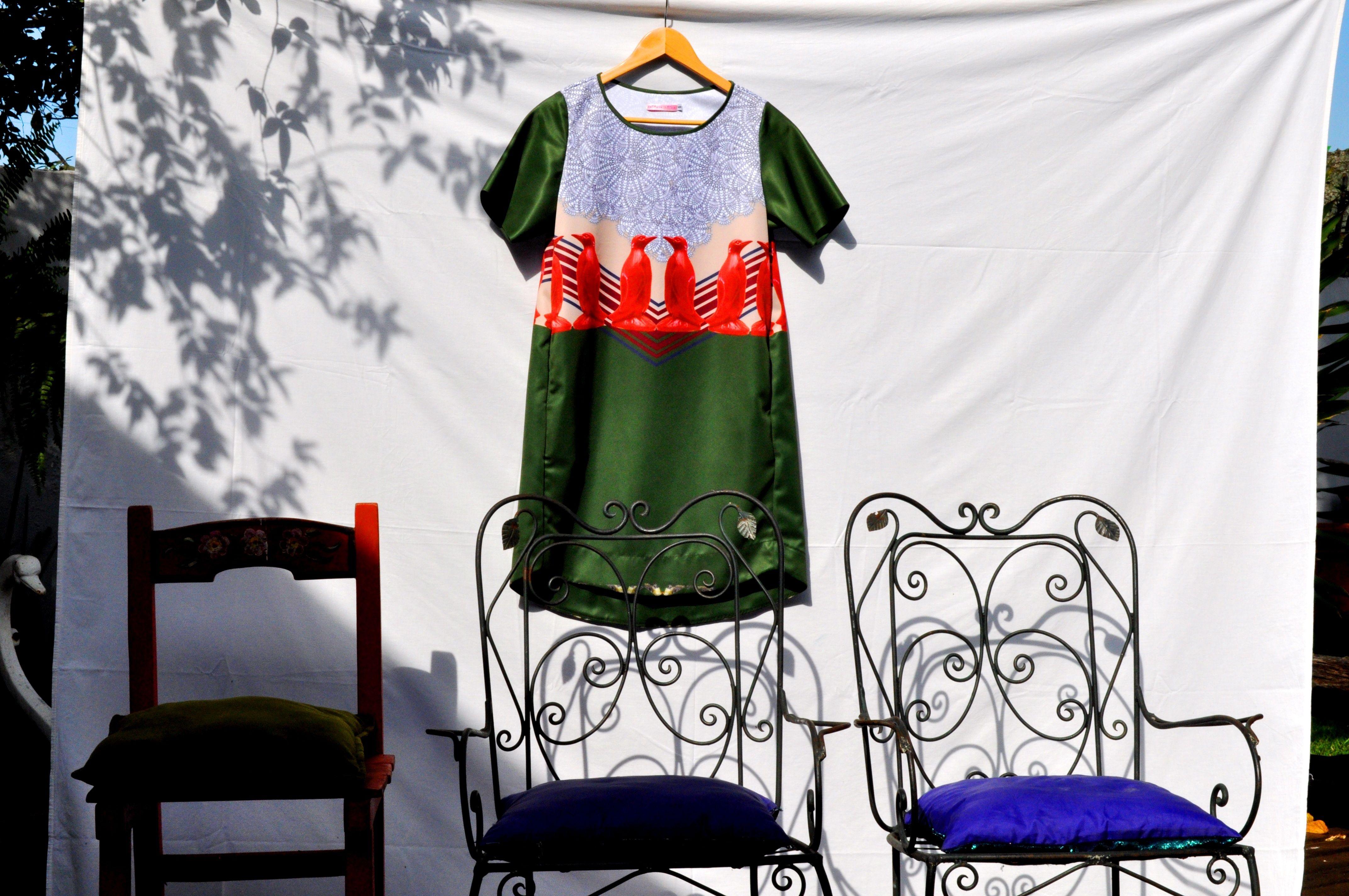 Vestido curto Adevania Silveira Coleção A Casa