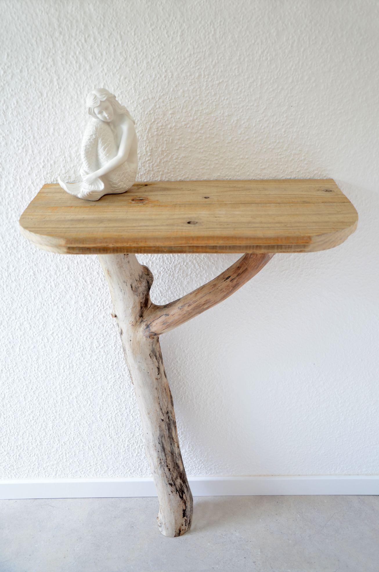 Treibholz-Wandkonsole Friihair ~ Driftwood wall console Made with ...