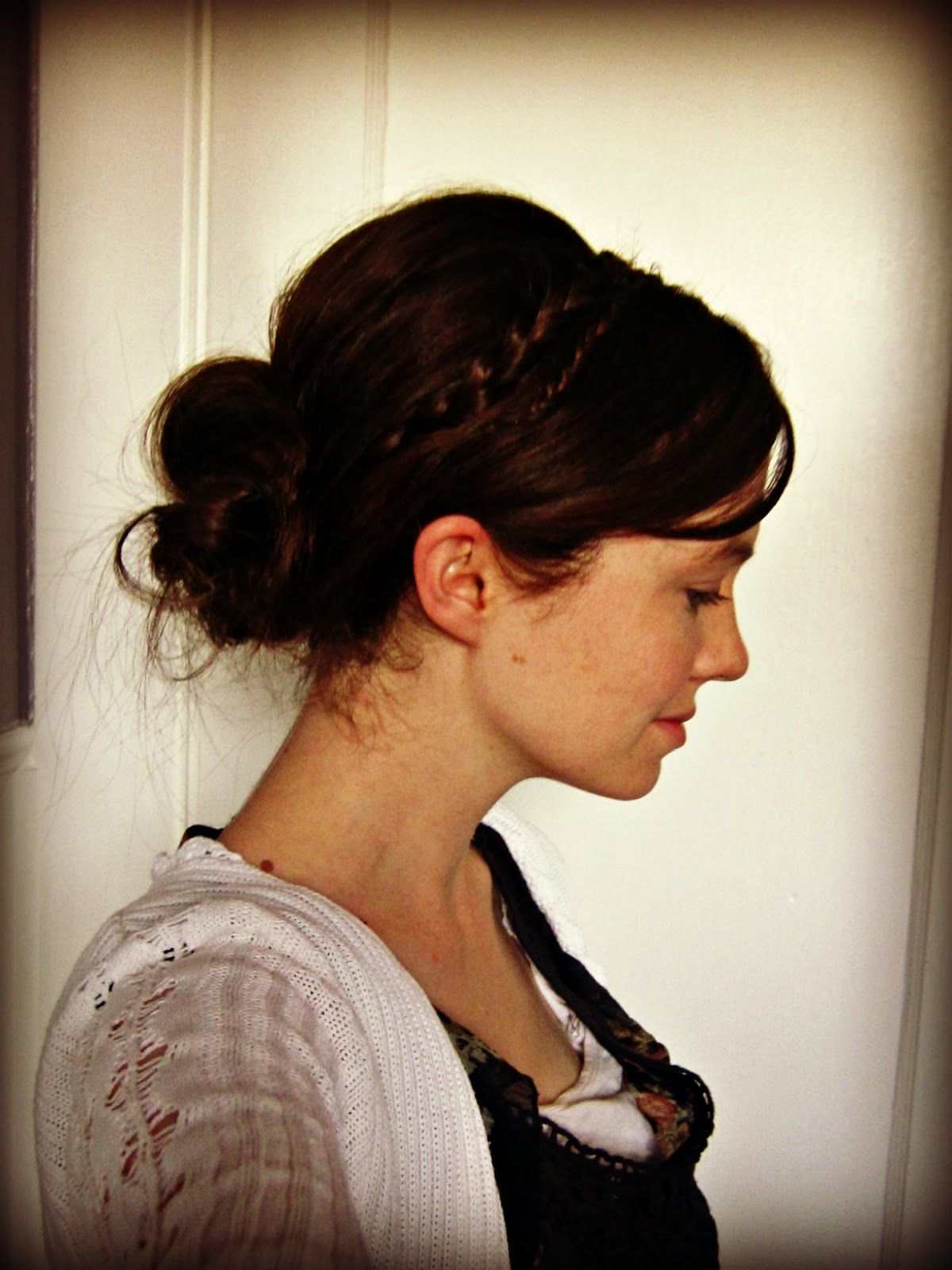 Ruffly Ribbons u Ramblings Funny Girl Inspired Braided Headband Bun