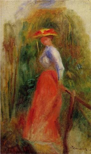 Woman in a Landscape - Pierre-Auguste Renoir