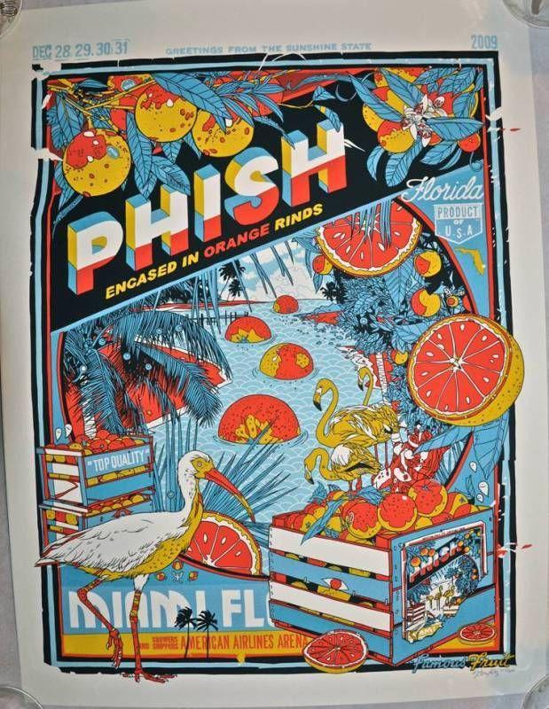 Phish Miami 09 Stout Blue Concert poster design