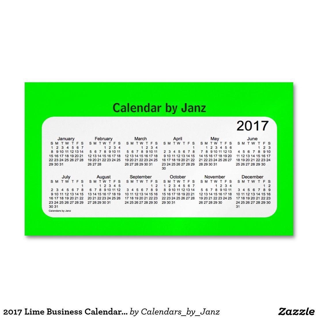 2017 lime business calendar by janz magnet business card magnet 2017 lime business calendar by janz magnet business card magnet colourmoves Images