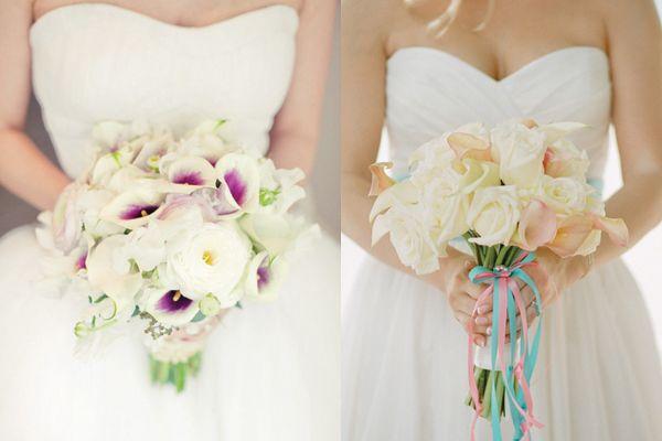 Weiss Und Pink Calla Lilie Blumen Strauss Hochzeit Beispiel Blumen