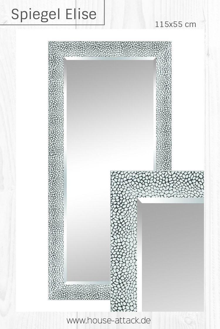 Silberner Wandspiegel Elise In 115x55 Cm Spiegel Wandspiegel