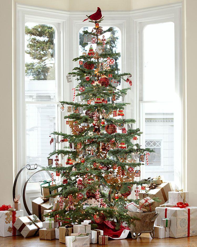 christmas styles pottery barn christmas pinterest christmas christmas tree and rustic. Black Bedroom Furniture Sets. Home Design Ideas