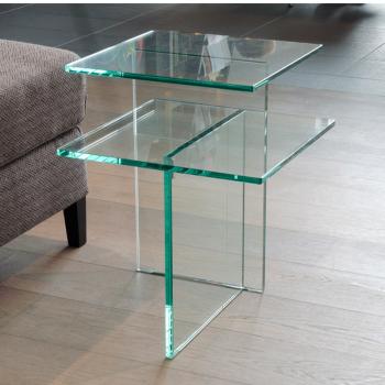 Glazen Bijzettafels Design.Glazen Bijzettafel Design Adele 2 Interieur Meubels Van