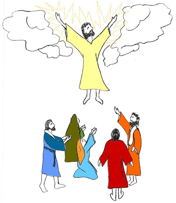 clipart of jesus ascending to heaven - photo #26