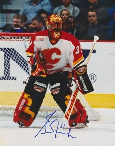 Autographed Grant Fuhr Photos Nhl Signed Photo Picture Pic Calgary Flames Hockey Goalie 8x10 Photo