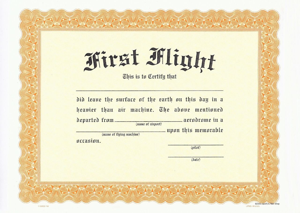 first flight certificate template 678 kbjpg