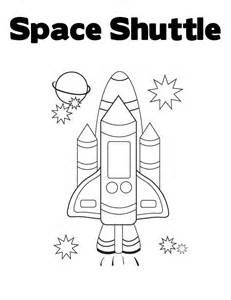 Space Shuttle Colouring Pages Space Theme Preschool Space