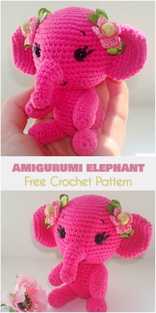 Amigurumi Elephant [Free Crochet Pattern] | Crocheting patterns ...