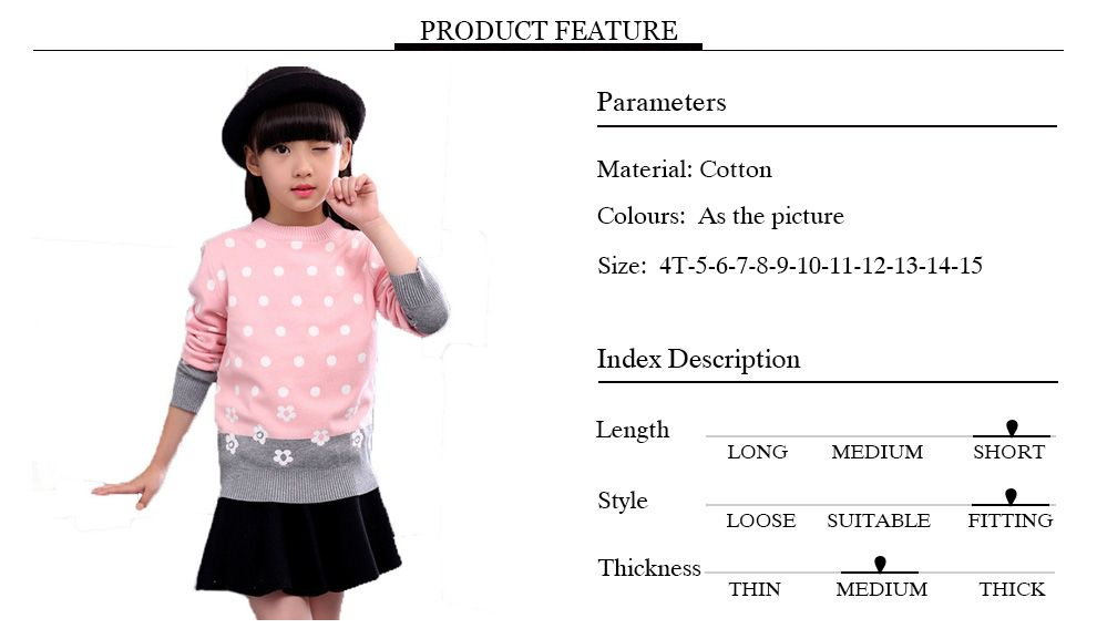 2017 Baby Girl Sweaters Cardigan Casual Kid Solid Dot Style Children's Sweater Winter Kids Girls High Quality Clothing #children'ssweaters