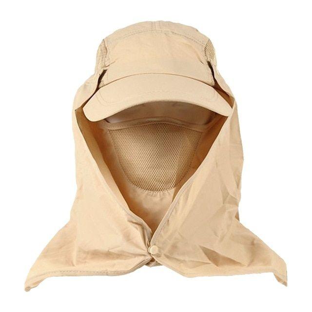 6c9f802b3da Men Women Fishing Hiking Hat Outdoor Sport UV Sun Protection Neck Face Flap  Cap Wide