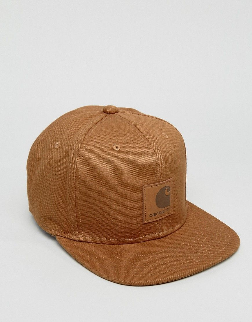27b818432 CARHARTT WIP LOGO 6 PANEL CAP - BROWN. #carhartt # | Carhartt Men ...