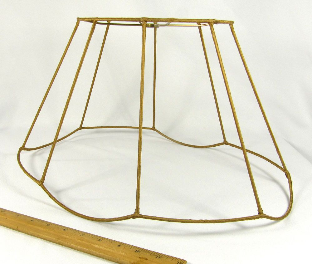 Lamp Shade Wire Frame Fancy Oval Vintage for Floor Lamp Large Gold ...