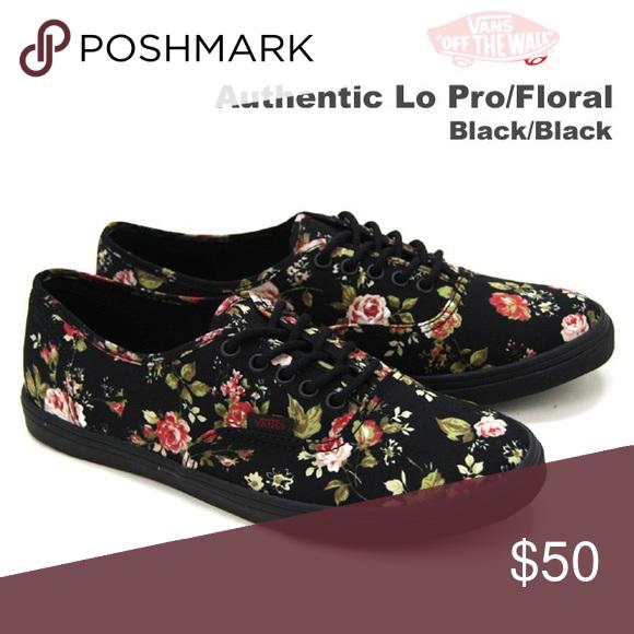 14bdd53afa23 Women s Black Floral Vans NWOT NEVER WORN!! Price is negotiable!! Vans  Shoes Sneakers