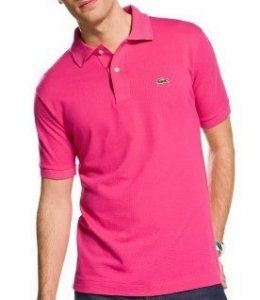 huge selection of beb97 daeef Men's Lacoste Pique Polo Shirt - Hot Pink | PK's Band ...
