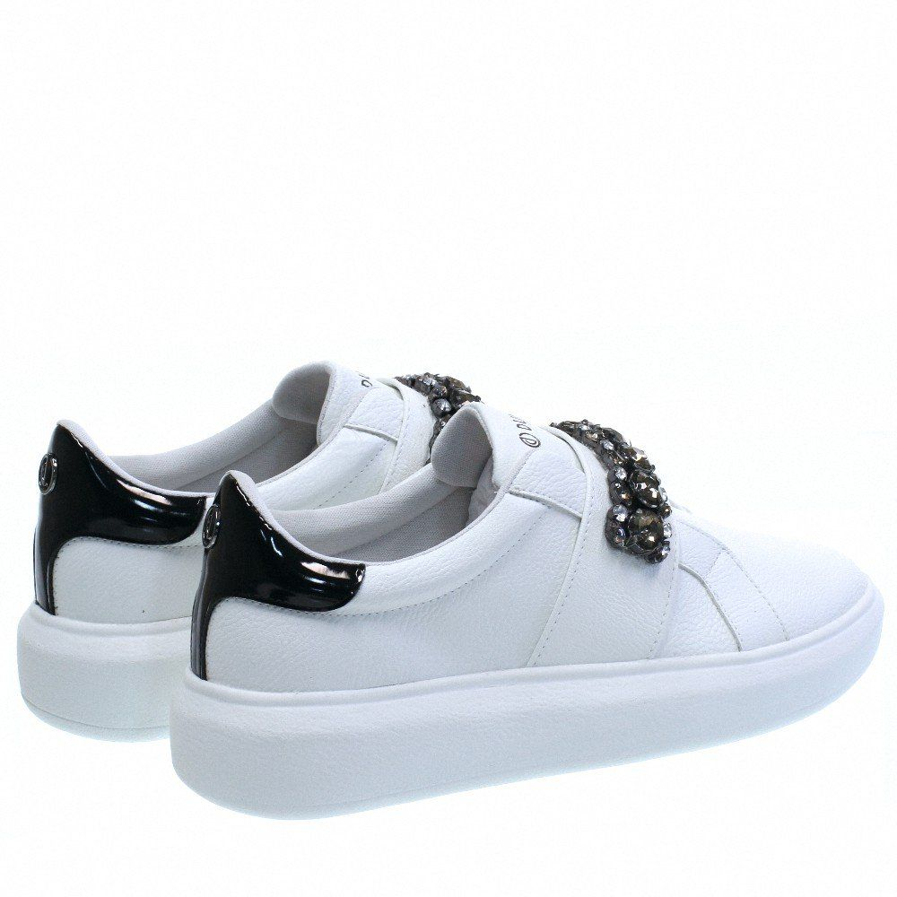 ca34e0d7b Tenis Casual Luxo Strass Branco 4312 Dumond para Moselle | Moselle sapatos  finos online! Moselle