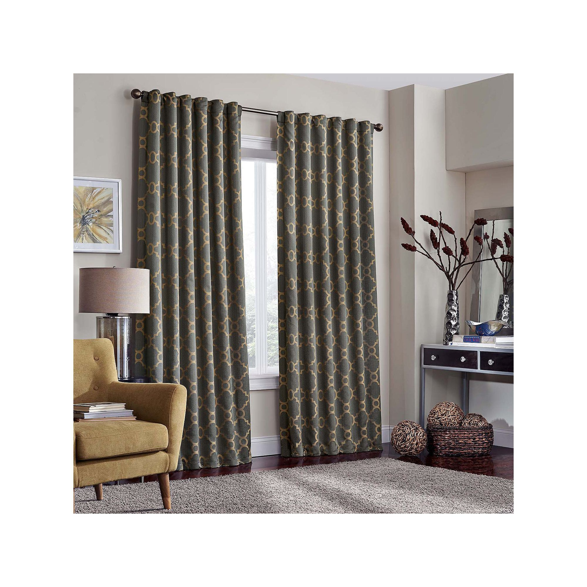 Eclipse Cornell Thermalayer Blackout Curtain, Grey