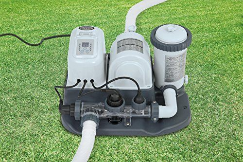 Intex Krystal Clear Cartridge Filter Pump Saltwater System With Eco Electrocatalytic Oxidation For Above Ground Pools 110120 Saltwater Pool Intex Outdoor Cart