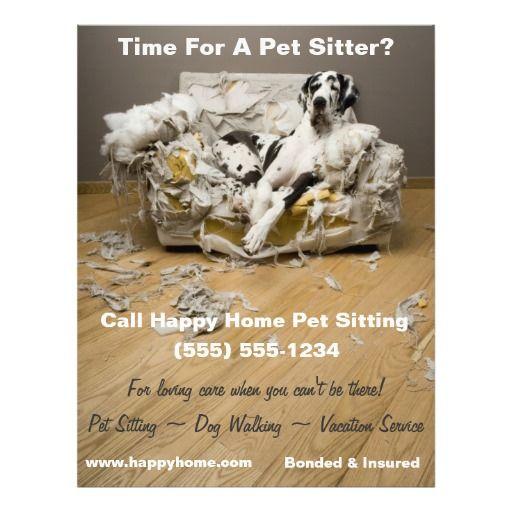 Great Dane Pet Sitting Flyer | More Pet sitting ideas