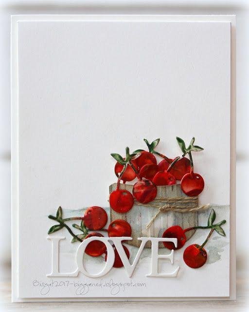 cherry love card by Birgit