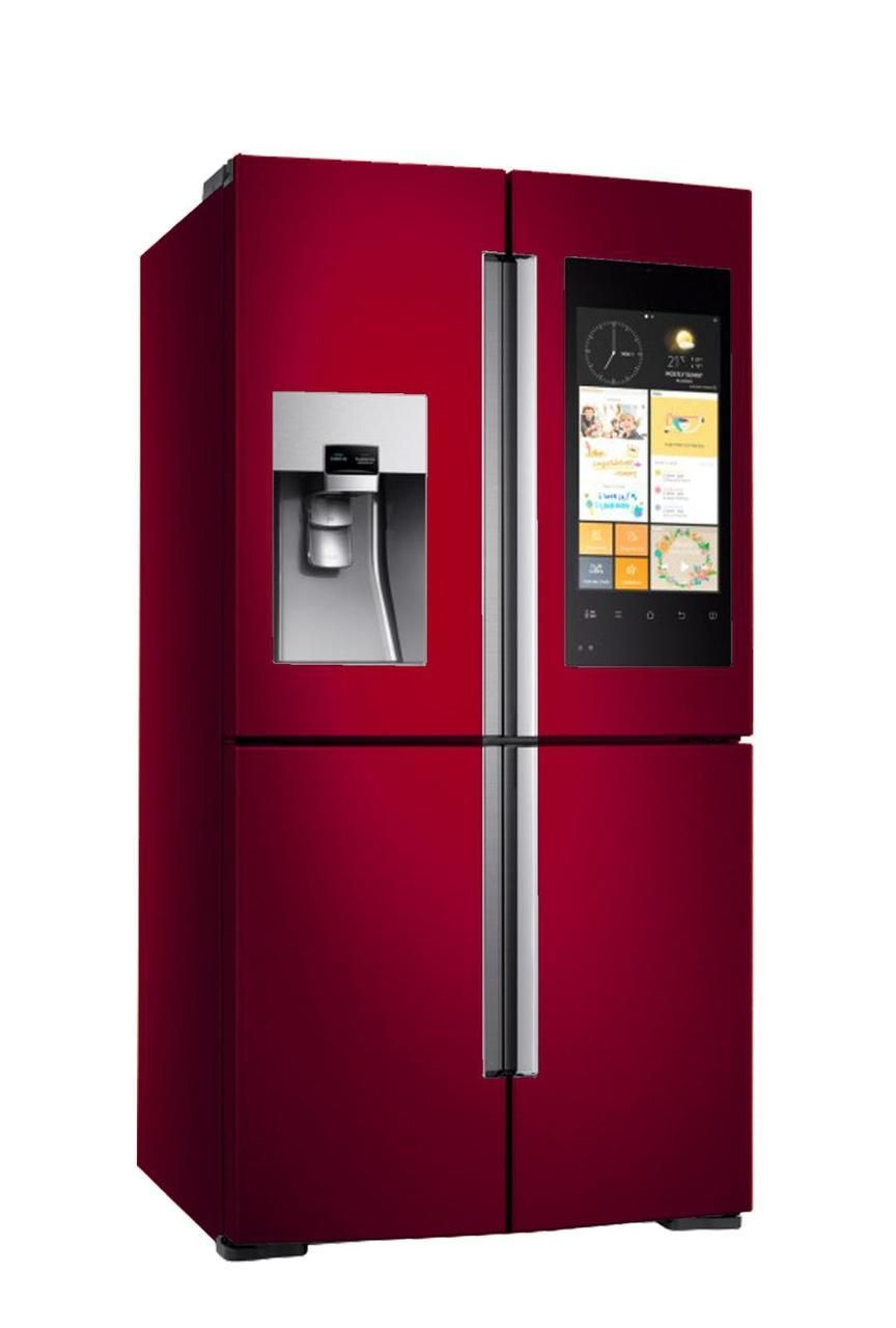 Samsung Tv Fridge Rf56 Cranberry Red Bespokefridges Co Uk Best Refrigerator Refrigerator Fridge