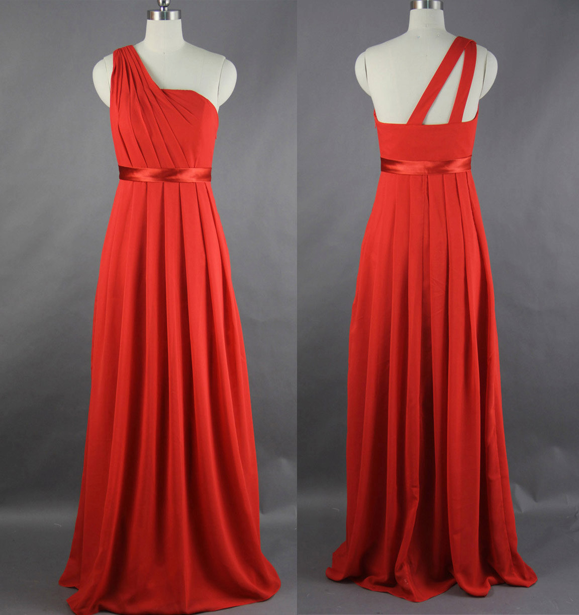 Gina maybeyou can get in the peach color or champagne one shoulder