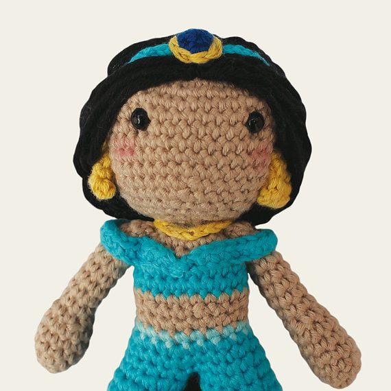 Jasmine - Disney Princess. Aladdin, Agrabah, Wall Disney, Amigurumi ...