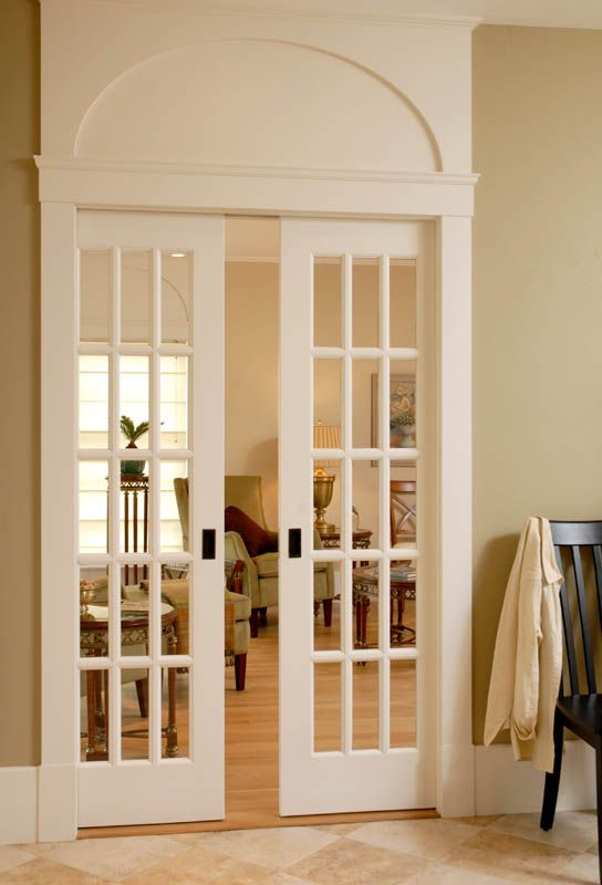 Sliding Interior French Doors With Gorgeous Trimwork. Perfect For Dividing  An Office Or Playroom Without Closing Off The Space Completely.