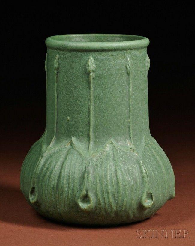 Arts crafts movement wheatley pottery vase art pottery for Arts and crafts vases pottery