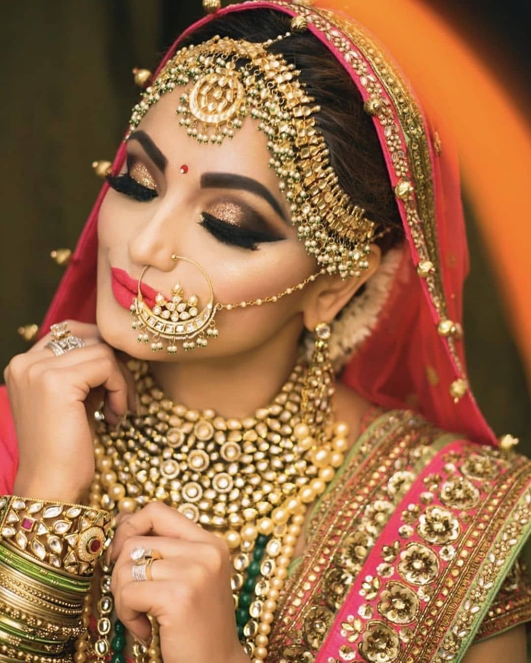 Indian Bridal Makeup Photos Pictures In 2020 Bridal Makeup Images Indian Bridal Makeup Asian Bridal Makeup