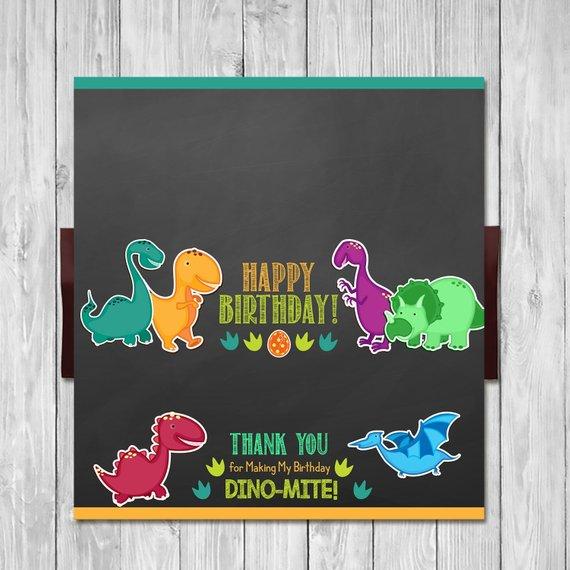 Dinosaur Candy Bar Wrapper Dinosaur Birthday Party Favor Chocolate Bar Label Dinosaur Decor Dinosaur Birthday Party Chocolate Bar Labels Candy Bar Wrappers