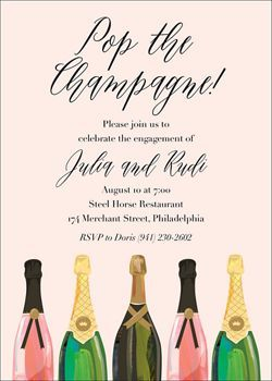 Pop the Champagne Engagement Party Invitation | Paper Source