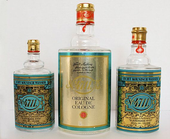 Vintage Perfume Bottles Teal Gold Art Deco Used To Wear This