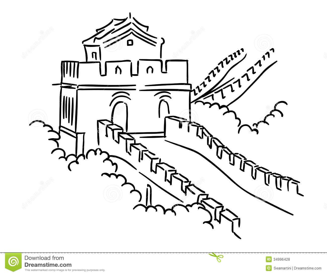 Clipart Wallpaper Blink Great Wall Of China Clipart Cartoon 26 1300 X 1096 For Android Windows Mac And Xbo Wall Drawing Easy Drawings Great Wall Of China